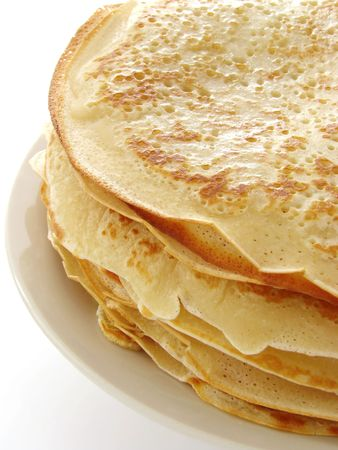 shrove tuesday: pancakes pile fragment on plate