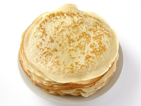 shrove tuesday: traditional pancakes pile on plate
