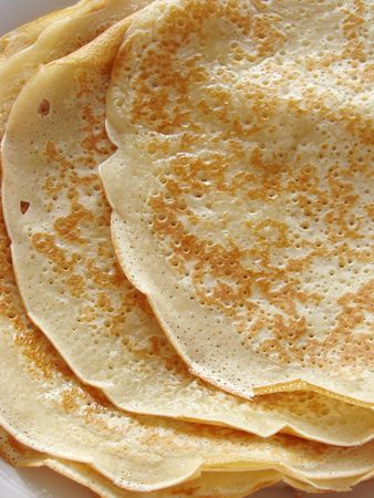 shrove tuesday: some pancakes as food background