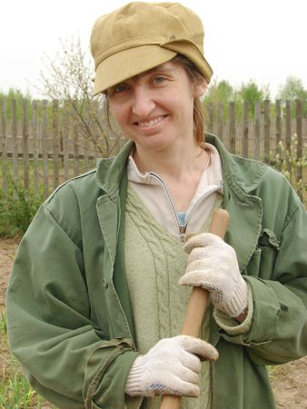 woman working at the rural farm                                Stock Photo - 3159757