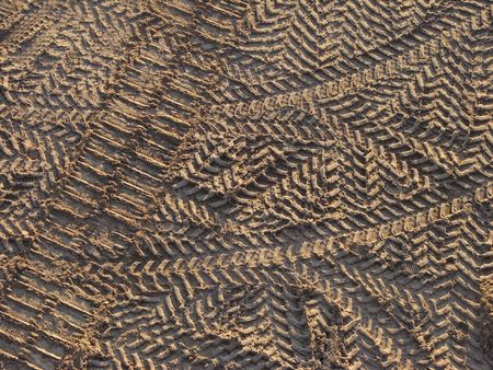 tire tracks on the construction site as a background Stock Photo - 3321368