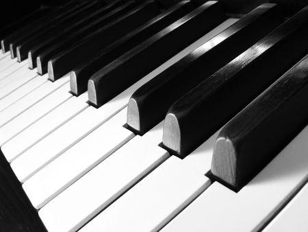 teclado de piano: viejo teclado de piano fragmento