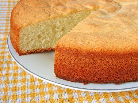 homemade cake: homemade cake fragment on the plate                                Stock Photo