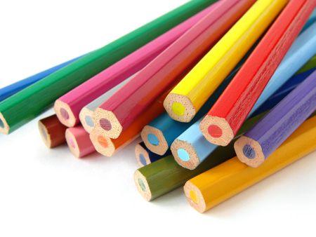 shallow DOF colorful pencils set  photo