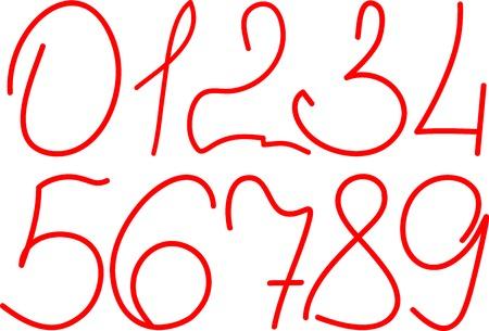 arabic numerals: handwritten arabic numerals set