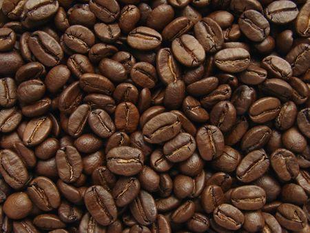 dark brown coffee beans background