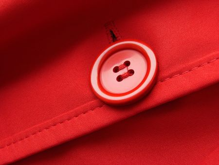fragment: red clothes fragment with button