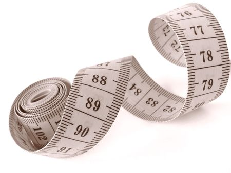 sepia toned curved measuring tape fragment Stock Photo - 4759905