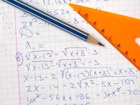 workbook: open workbook page with algebraic equation