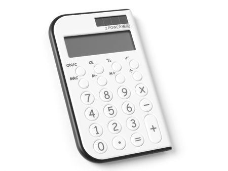 pocket calculator on white                                Stock Photo - 5785057