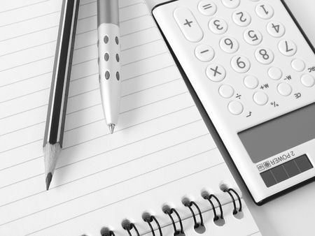 stationery tools ready to calculate Stock Photo - 5801219