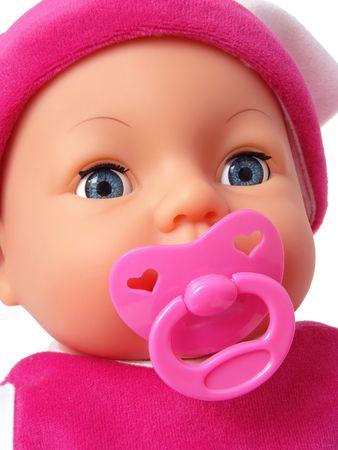 babydoll: pretty babydoll face with dummy                       Stock Photo