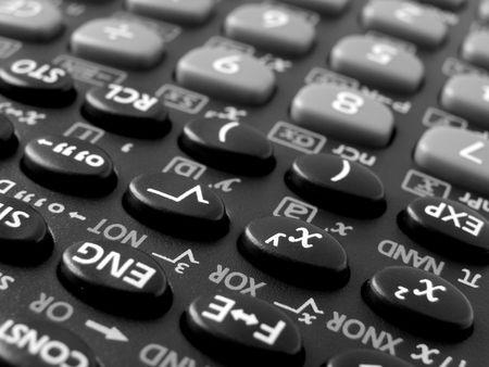 shallow DOF scientific calculator closeup                                photo