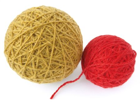 two colorful wool yarn skeins                                 Stock Photo - 6399047
