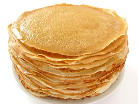 shrove tuesday: homemade pancakes pile on plate                                 Stock Photo