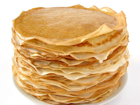 crepe: delicious pancakes pile on plate