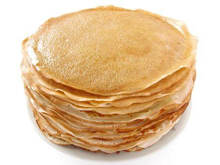 pancakes pile on plate                            photo