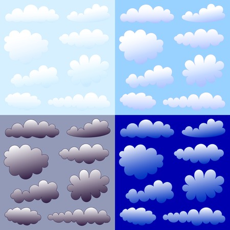 clouds collection Stock Vector - 7565231
