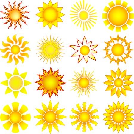 sun collection Stock Vector - 7628903
