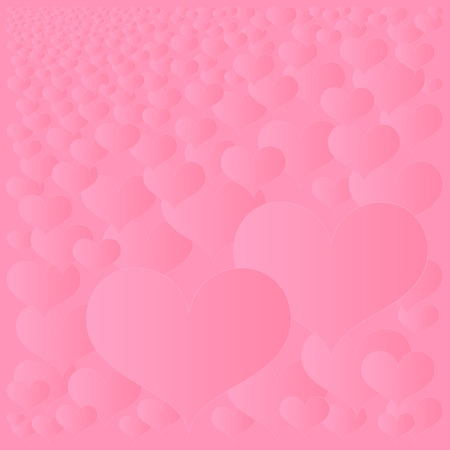 abstract hearts background Stock Vector - 8090741
