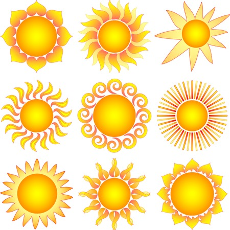 sun collection Stock Vector - 8090744