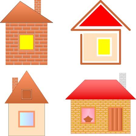 cartoon houses set Stock Vector - 8090747
