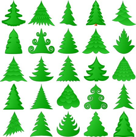 Christmas trees collection Stock Vector - 8138093