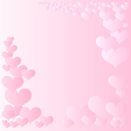 pink hearts frame Stock Vector - 8138097