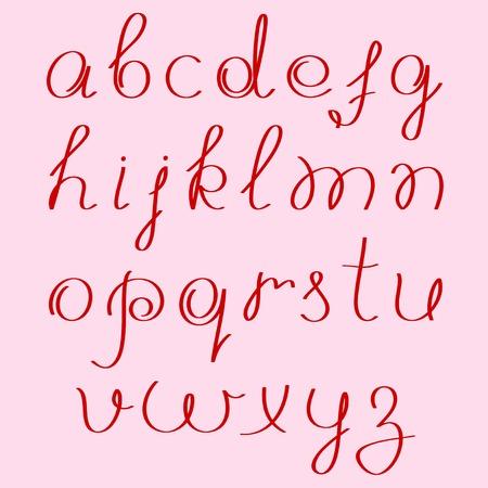 handwritten alphabet Stock Vector - 8221975