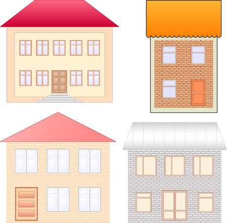 vector houses set  Stock Vector - 8252678