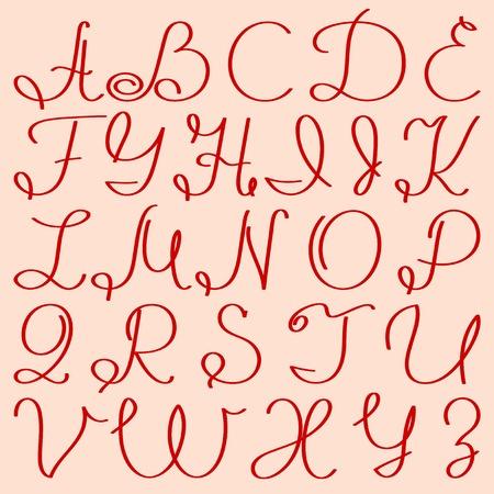 handwritten capital letters Stock Vector - 8331753