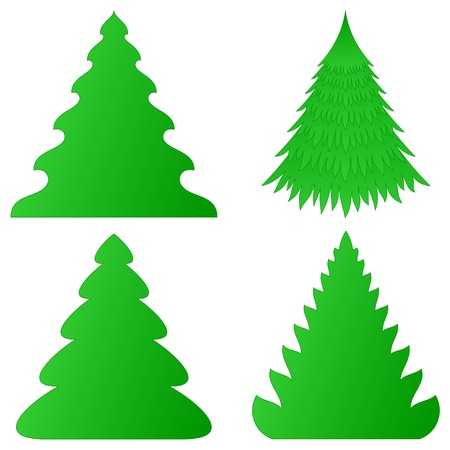 Christmas trees collection Stock Vector - 8390653