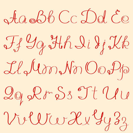 handwritten alphabet Stock Vector - 8390669