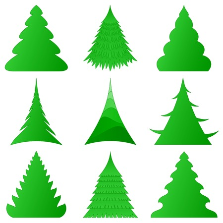 Christmas trees collection Stock Vector - 8457058