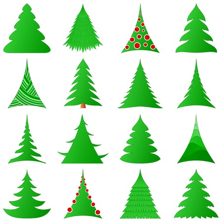 Christmas trees collection Stock Vector - 8472912