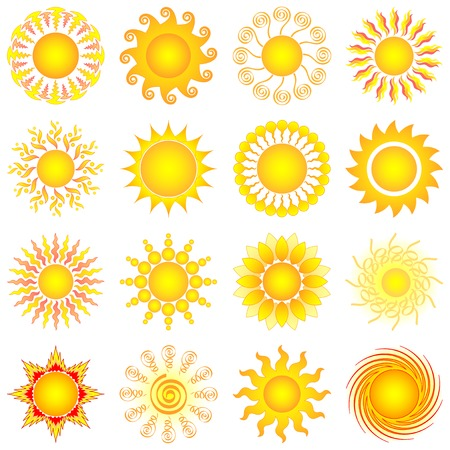 sun collection Stock Vector - 8496236
