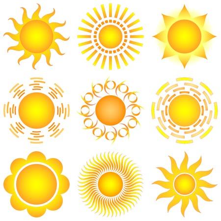 vector sun collection Stock Vector - 8563589