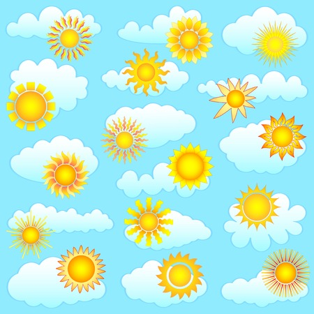 sun and clouds collection Stock Vector - 8621917