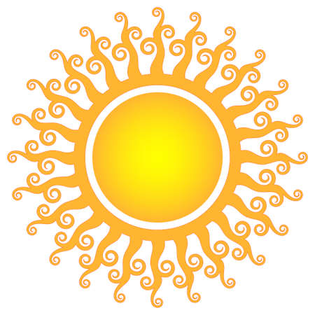 sun ray: ornamental sun