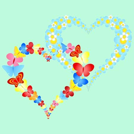 valentine symbolic hearts Stock Vector - 8912350