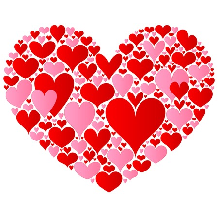 страсть: Валентина сердце Иллюстрация