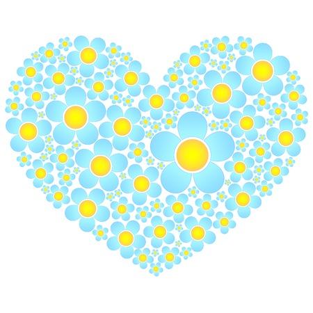 valentine flowers heart Stock Vector - 8912349