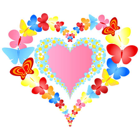 hearts and flowers: valentine symbolic heart