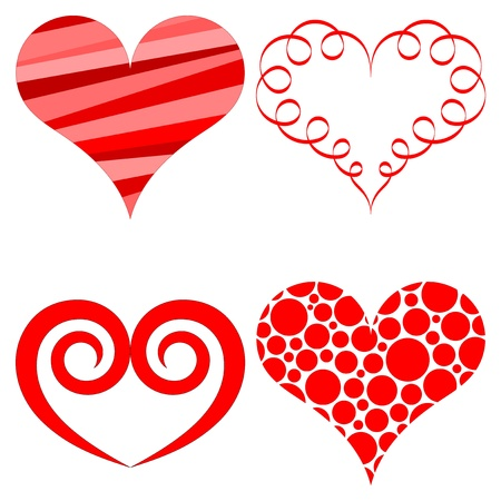 love picture:  hearts set for wedding and valentine design
