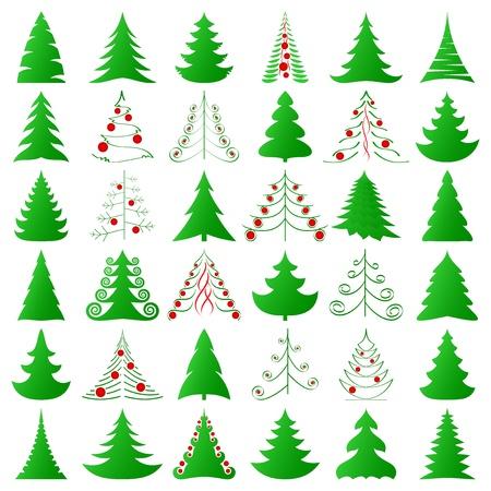 symbolic Christmas trees