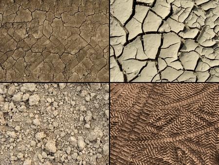 fissures: ground textures set                         Stock Photo