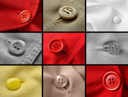 hem: clothes fragments with buttons
