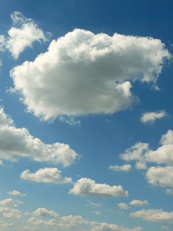 cumulus cloud: blue sky with beautiful clouds