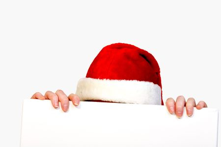 Christmas had and fingers Stock Photo