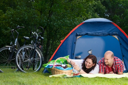 bivouac: backpack, bicycle, bike, bikes, bivouac, blank, camping, Caucasian, Cheerful, couple, encamp, family, friendly, friendship, fun, happiness, happy, landscape, laughing, lifestyle, love, lovers, married, nature, outdoors, relationship, romance, romantic, sm